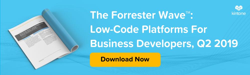 The Forrester Wave Low Code Platforms For Business Developers 2019