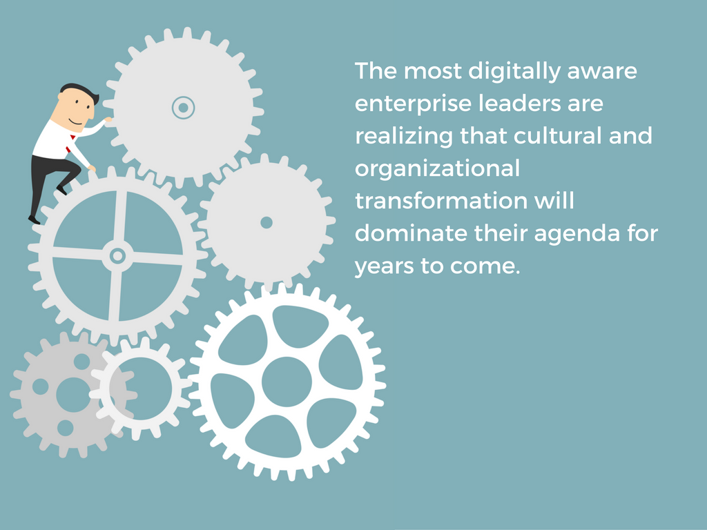 Gartner research: most digitally aware leaders realize culture has important role