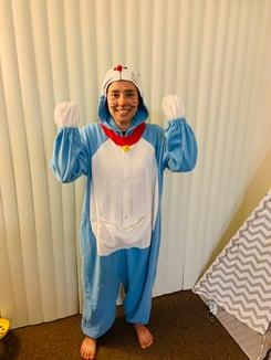 Halloween costume contest Doraemon