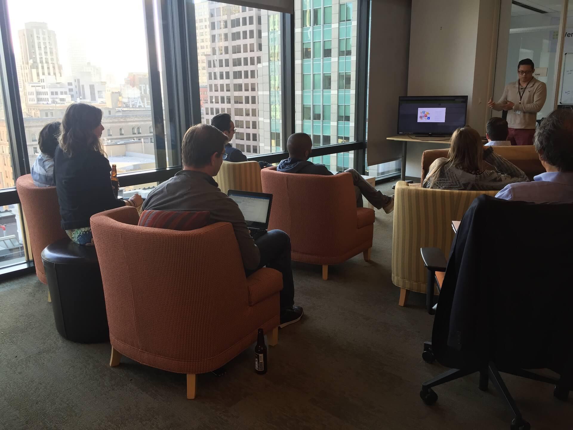 kintone developers network meetup build business apps brian