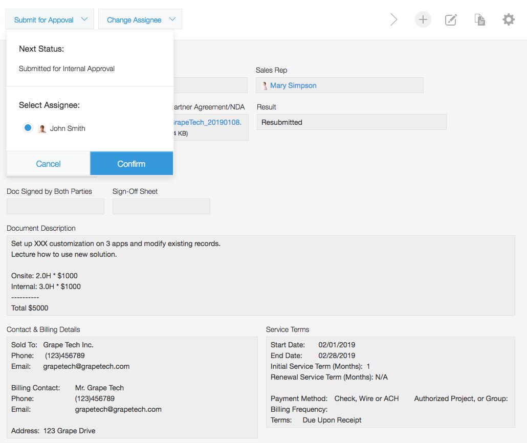 Kintone Sales Proposals and Agreements App Business Process Management