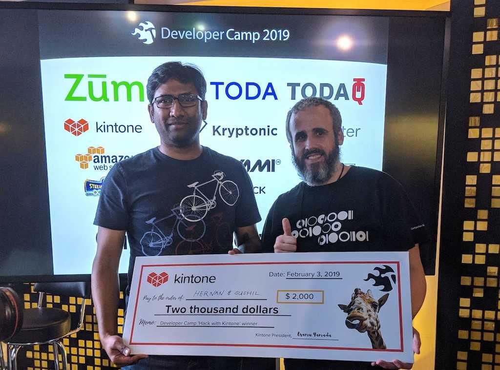 Sushil-Hernan-Developer Camp 2019-Kintone Grand Prize Winner