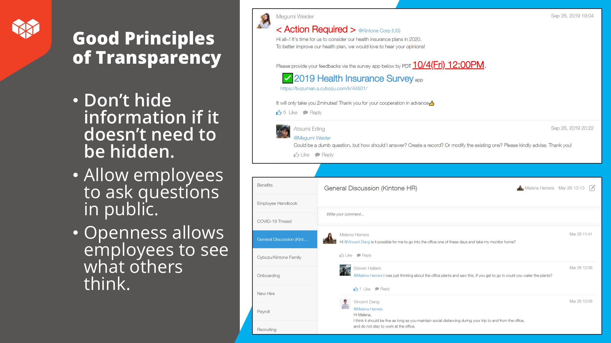 Transparency Kintone Thread