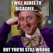 agree to disagree meme