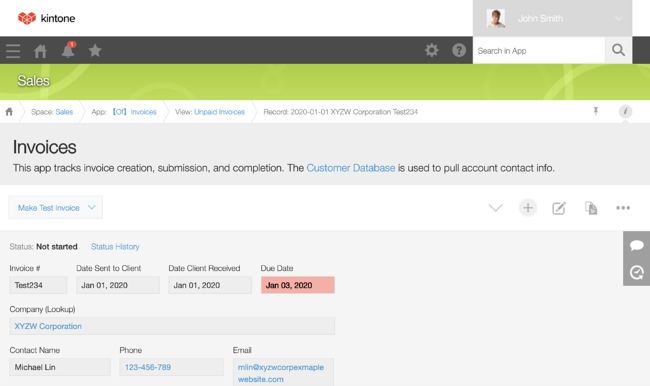 invoices-record-workflow-management