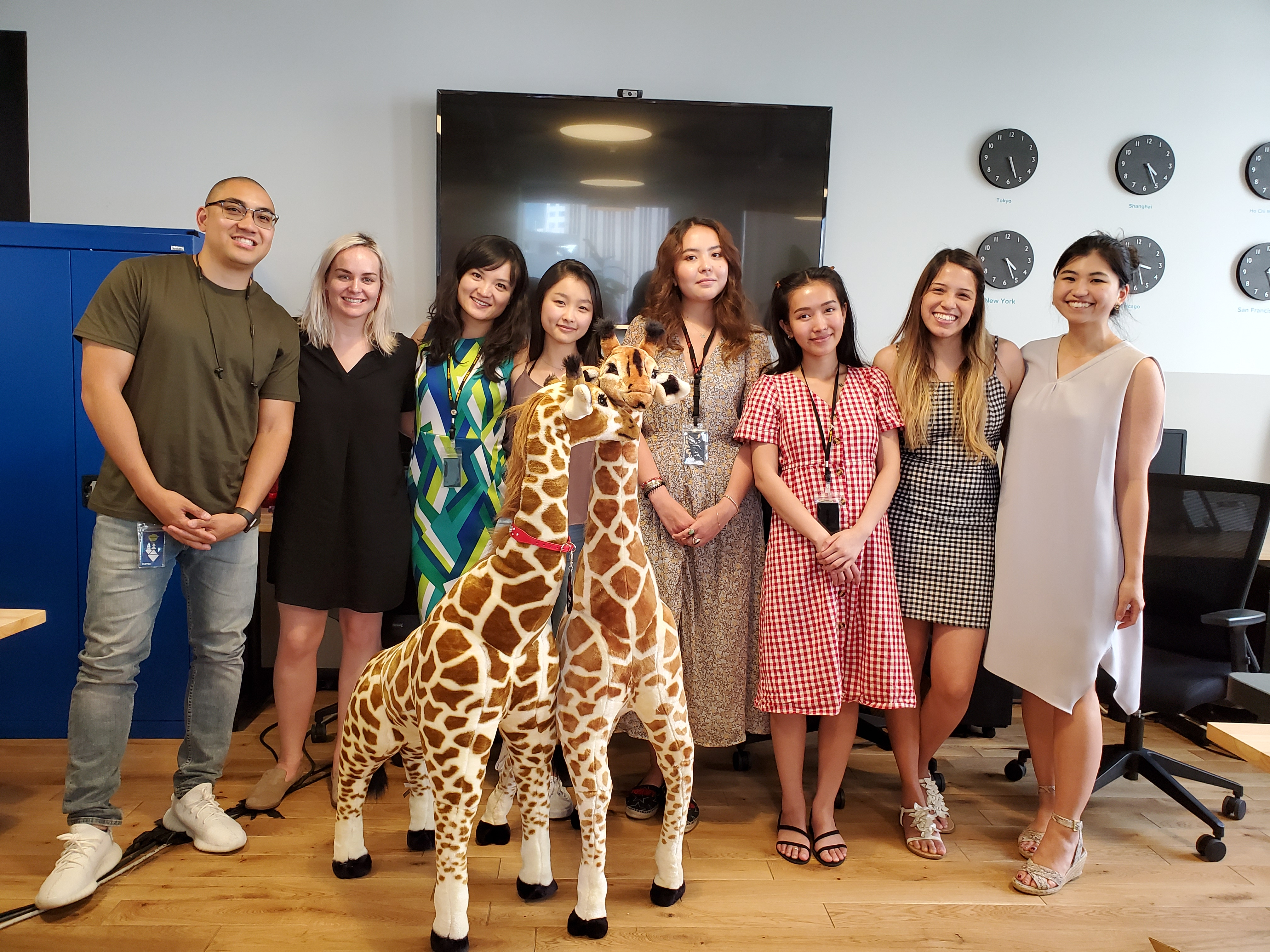San Francisco Tech Startup Kintone Intern Eve with Marketing Team